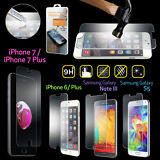 New Premium Real Tempered Glass Film Screen Protector for Apple iPhone 7 Samsung