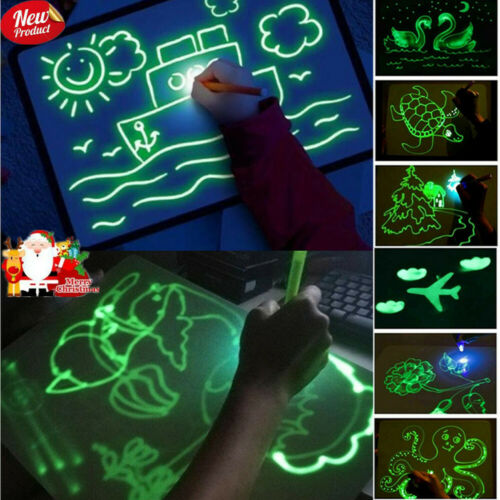 Draw With Light Writing Pad for Kids Drawing Painting Board