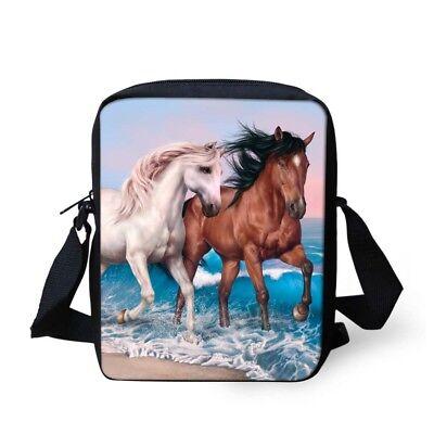 Horse Bag (Cross Body Horse Print Messenger Small Shoulder Bag Handbag School Fashion)