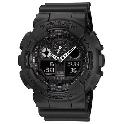 BRAND NEW CASIO G-SHOCK GA100-1A1 MEN'S BLACK ANA-DIGI WATCH NWT!!!!
