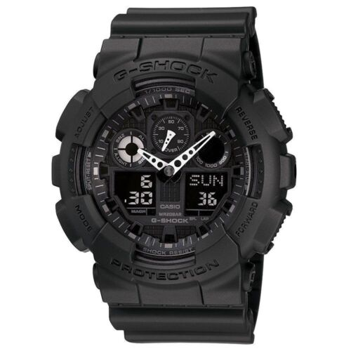 BRAND NEW CASIO G-SHOCK GA100-1A1 MEN'S BLACK ANA-DIGI WATCH