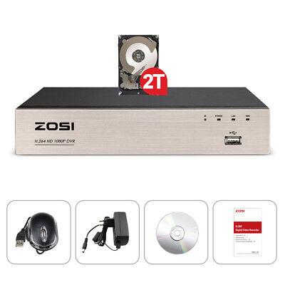 ZOSI CCTV 8CH 1080P/720P TVI DVR HDMI Video Recorder für Überwachungskamera CCTV Zr Video