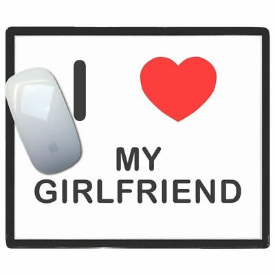 I Love Heart My Girlfriend - Thin Pictoral Plastic Mouse Pad Mat Badgebeast
