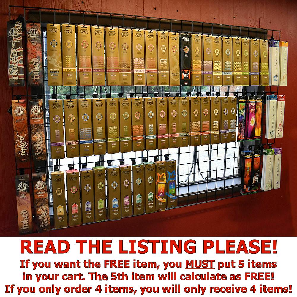 Gonesh Premium Incense Sticks 20 Pack Choose Scent BUY 4 GET 1 FREE 5 IN CART