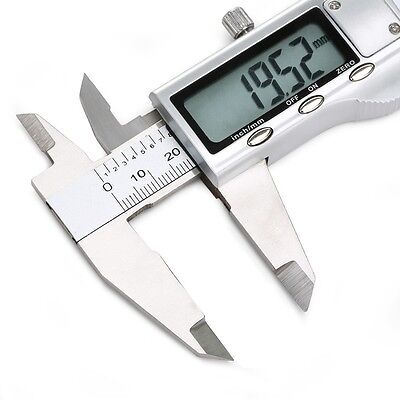 """6"""" 150mm Electronic Digital Vernier Caliper Micrometer Guage LCD Stainless Steel"""