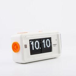 Twemco Retro Modern Flip Alarm Clock AL30 White German Movement Made in HK