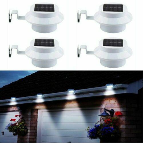 3 LED Solar Powered Gutter Light Outdoor/Garden/Yard/Wall/Fe