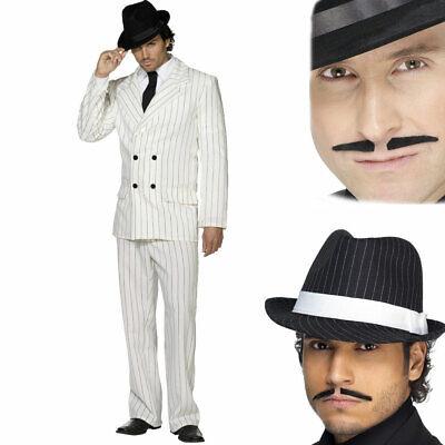 Herren 1920s Kostüm Gangster Kostüm Plus Filzhut und Gratis Spiv (Gangster Kostüm Plus)