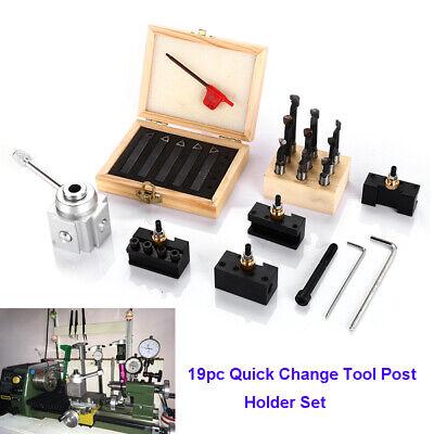 19pcs Quick Change Tool Set Post Holder Mini Holder Cnc Boring Lathe Bar Turning