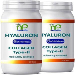 BioCell ® 120 Hyaluronsäure Collagen-II Kapseln - 1000mg Kollagen pro Tag (2x60)