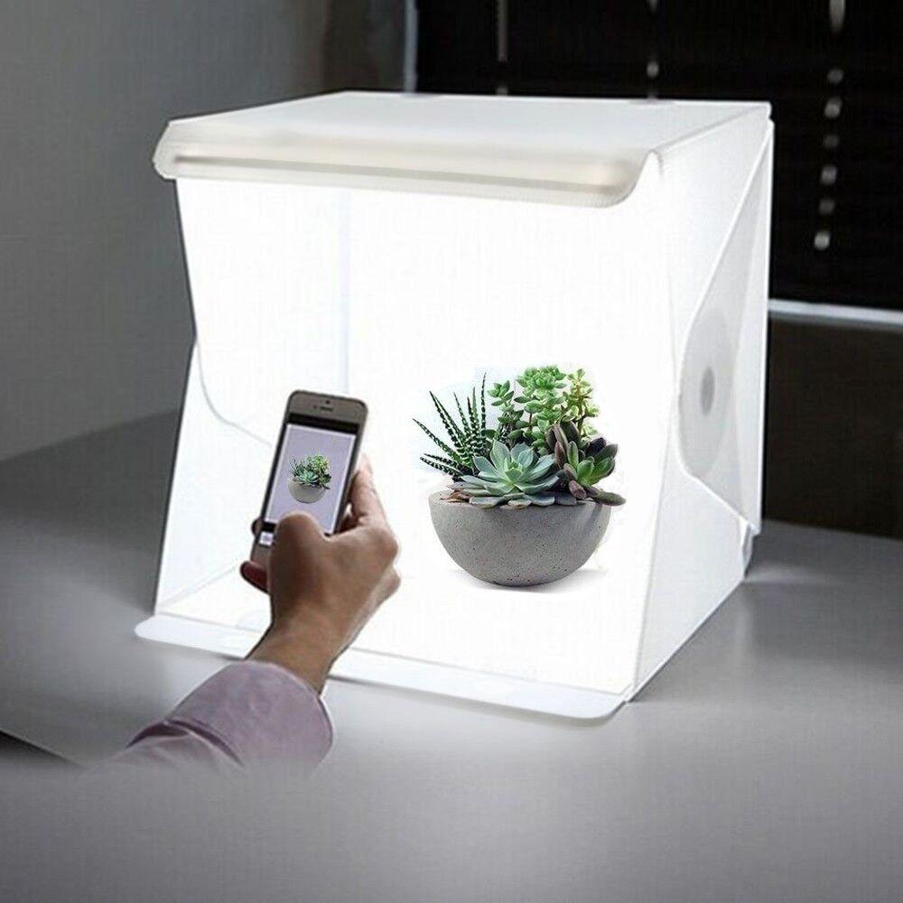 mini folding lightbox photography studio softbox led