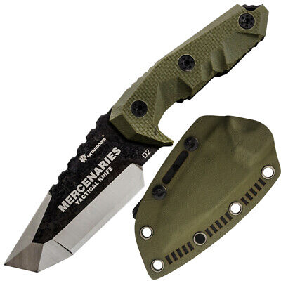 HX OUTDOORS Military Survival Jungle Tactical Knife G10 Handle with Sheath