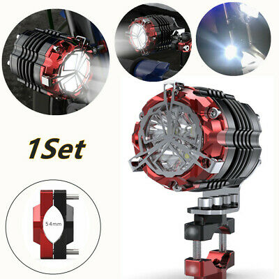 1*54mm Motorcycle Spotlight LED Fog Lamp Flasher Lighting Pressure Code Aluminum