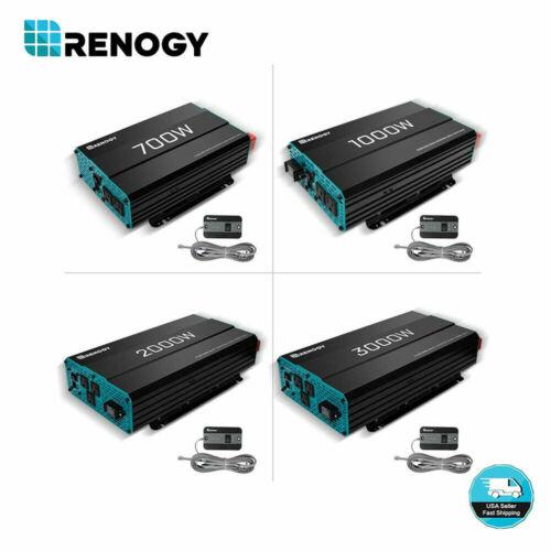 Renogy 700W/1000W/2000W/3000W Pure Sine Wave Solar Inverter 12V Battery Power