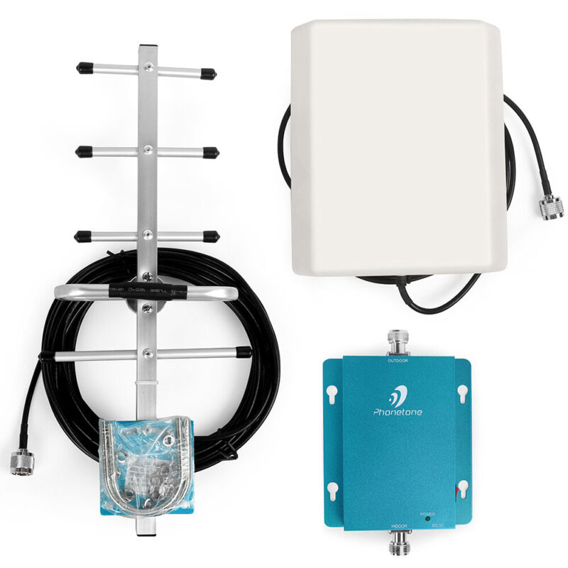 62dB 3G LTE 850MHz Band 5 Call Signal Booster Repeater Amplifier Kit Voice Data