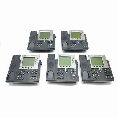 Lot Of 5 Cisco 7961 Unified Ip Business Telephone 48v Poe Phones No Handsets