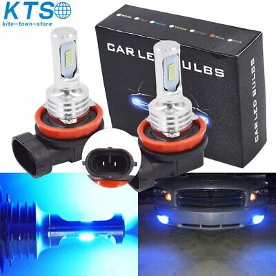H11 H8 H9 H16 LED Fog Light Conversion Kit PLUG AND PLAY 8000K Ice Blue 35W