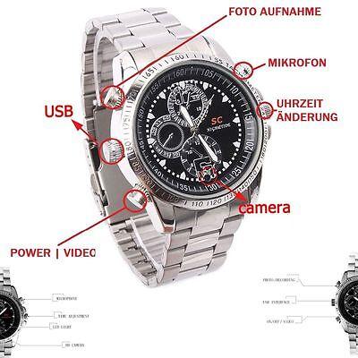 Versteckte Armband (16GB Armbanduhr mit versteckte Mini Spion Kamera Spy hidden Cam Uhr Video - A13)
