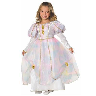 Girls Rainbow Costume (Rainbow Princess Girls size S 4/6 Dress Costume Outfit Rubie's)