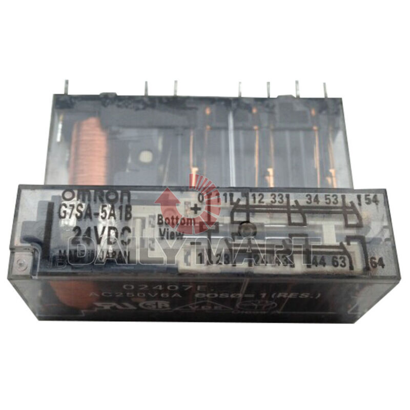 OMRON G7SA-5A1B DC24 SAFETY RELAY 5PST-NO/SPST-NC, 24VDC, 6A PLC MODULE NEW