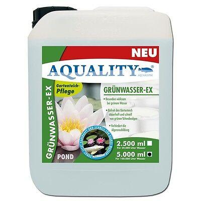 (7,80€/l) AQUALITY Grünwasser-EX Teichklärer 5 Liter wirkt gegen grünes Wasser
