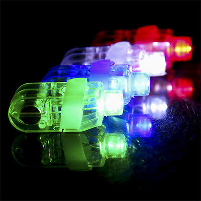 10X Light Up LED Flashing Finger Rings Glowing Party Favors Kids ZY Toy Children