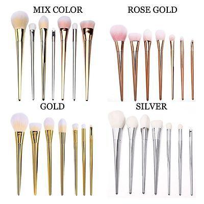 (7pcs Makeup Brushes Set Powder Foundation Eyeshadow Eyeliner Lip Brush Tool Best)