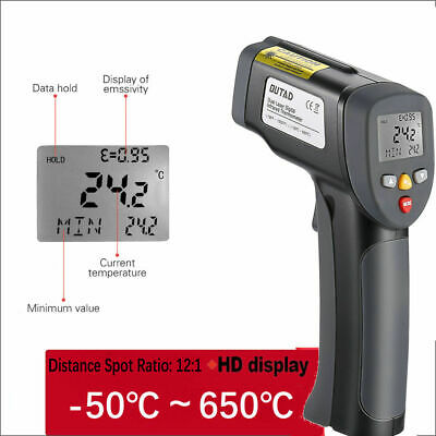 Non-contact Digital Infrared Thermometer Gun Ir Temperature Tester -50 To 650