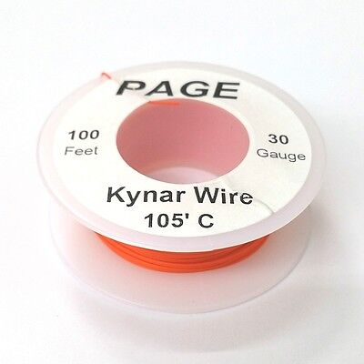 100 Page 30awg Orange Kynar Insulated Wire Wrap Wire 100 Foot Roll Made In Usa