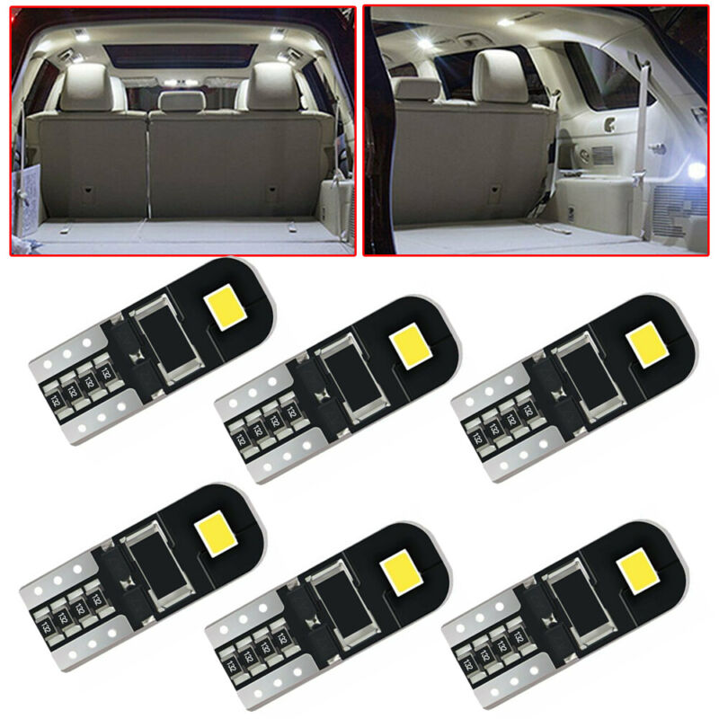 10x T10 194 168 CANBUS LED Car Interior Map Lights License Plate Lamp Accessory