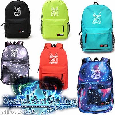 Sword Art Online School Bags  Teens Boys Sao Backpack  Multi Type  Noctilucence