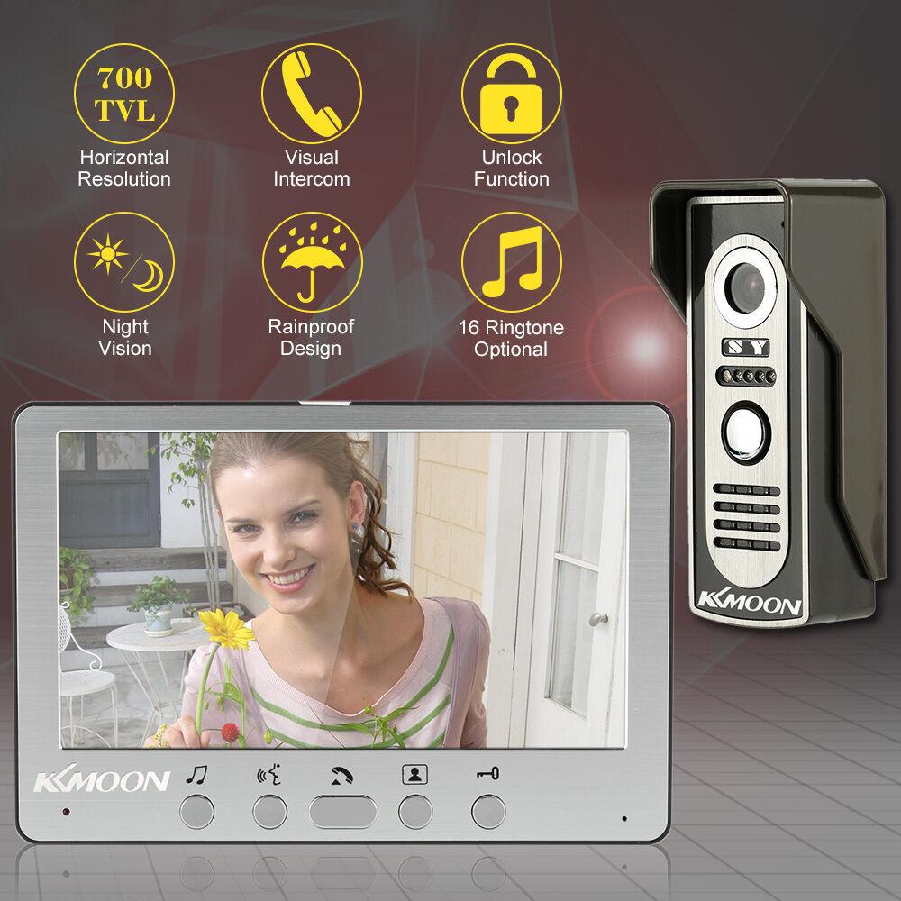 Intercom System LCD Visual Video Speakerphone With Waterproof Outdoor IR Camera