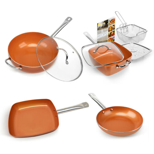 Best Choice Products Healthy Non-Stick Copper Bottom Frying