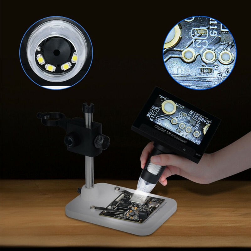 "4.3"" 1000X HD LCD Monitor Electronic Digital Video Microscope LED Magnifier Good"