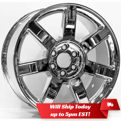 "New 22"" Replacement Chrome Alloy Wheel Rim for 2007-2014 Cadillac Escalade"