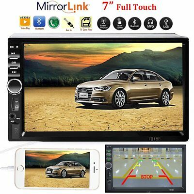 Car Stereo Radio Bluetooth Audio Receiver Double 2 Din 7