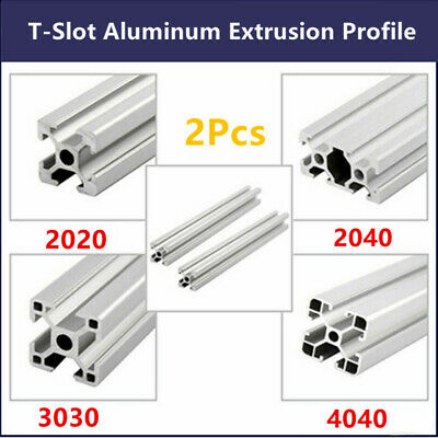 2Pcs T-Slot Aluminum Extrusion Profile 2020 3030 4040 2040 Nut6/8 CNC 3D Printer
