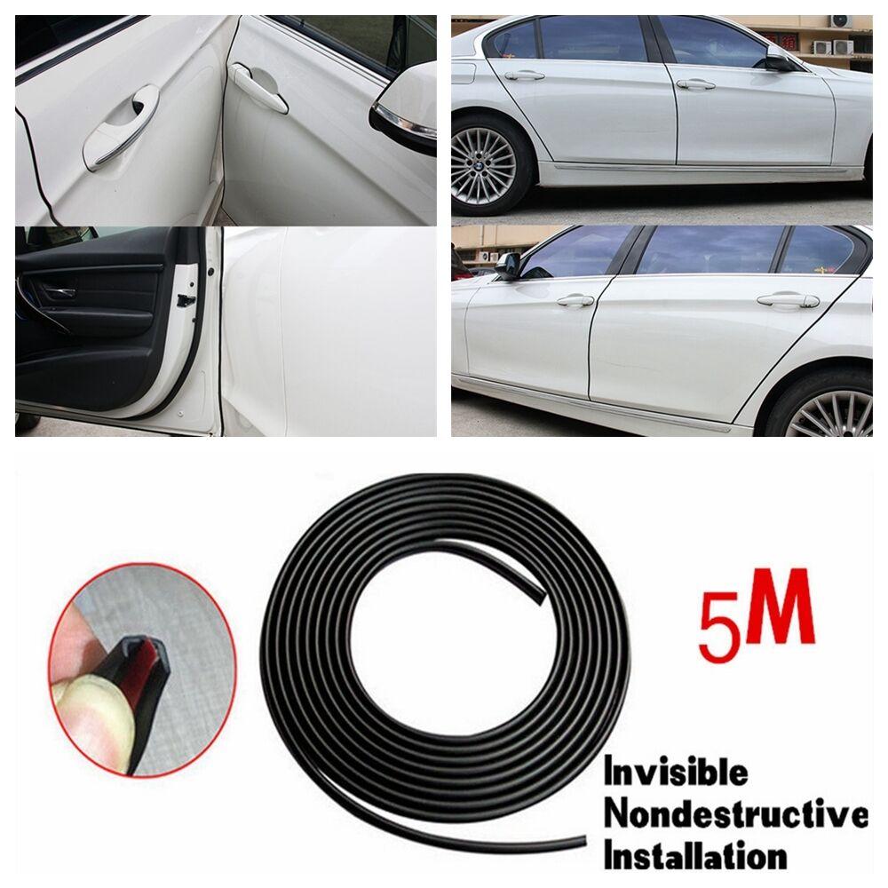 16ft 5m Black Car Door Moulding Rubber Scratch Protector