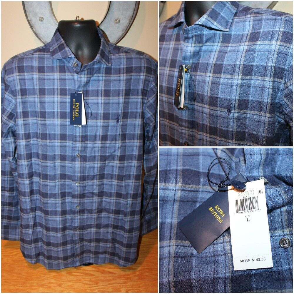 nwt 148 mens long sleeve button shirt