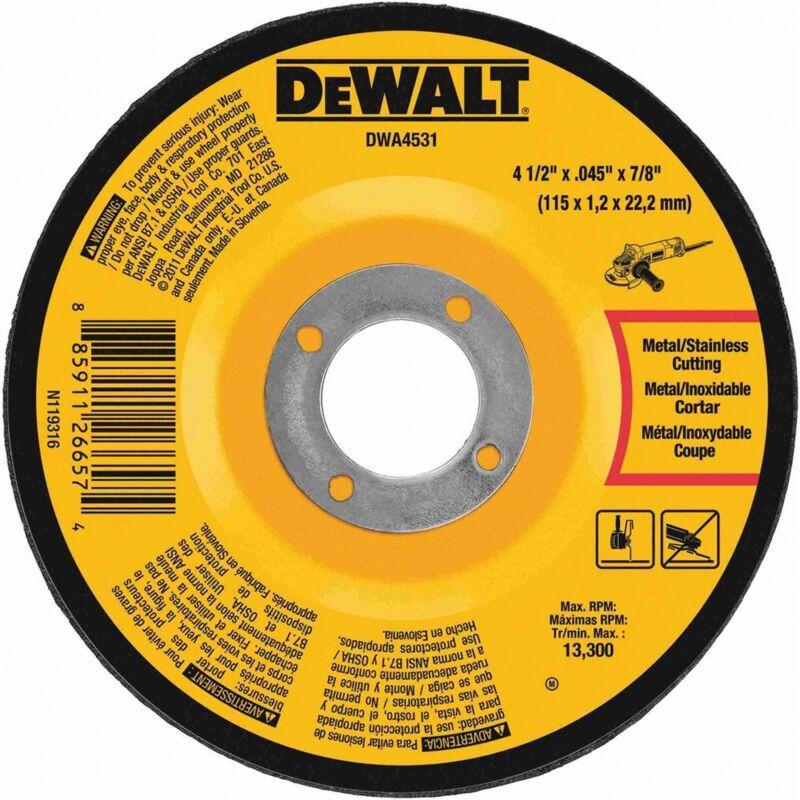 """DEWALT DWA4531 4-1/2"""" X .045"""" X   7/8"""" T27 Metal Cut-Off Wheel"""