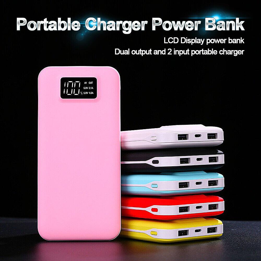 US 50000mah Portable LED Display Dual USB Power Bank Charger