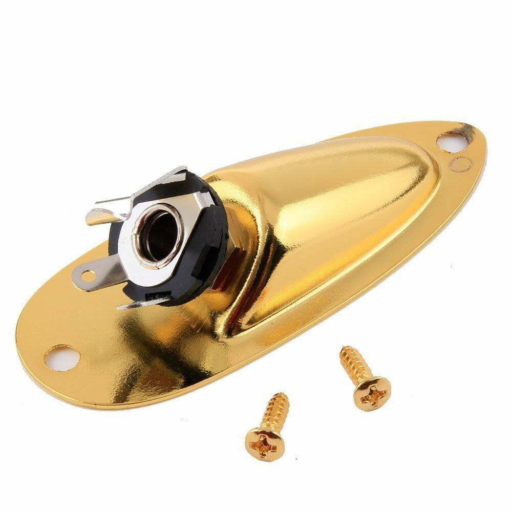 Gold New Boat Output Jack Cup Plate Socket for Fender Strat Style Guitar A28