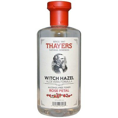 Thayers Rose Petal Witch Hazel Alcohol-Free Toner with Aloe Vera 12 oz