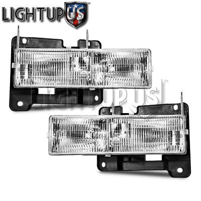 - Left Right Sides Pair Headlights for 1990-2002 CHEVY PICKUP TRUCK C1500 K1500