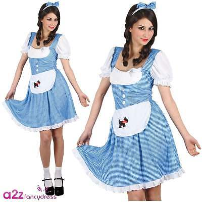 Country Girl Adult Damen Dorothy Kostüm Karneval Buch - Adult Girl Kostüm