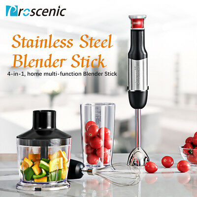 800W Hand Blender Stay immersion Mixer Variable Speed Food Processor KitchenSet