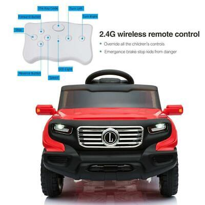 Electric Toys Chlid Kids Ride On Car 3 Speed LED Light with Remote Control RED