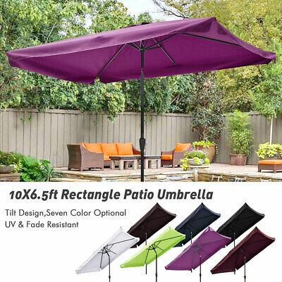 10x6.5 Outdoor Patio Umbrella with Valance Crank Tilt Market