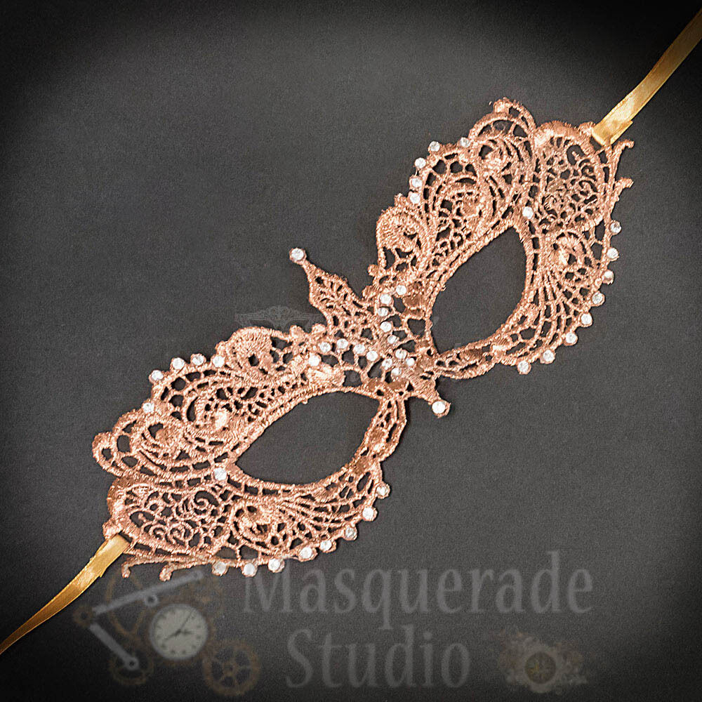 Anastasia Inspired Sexy Lace Masquerade Ball Mask with Rhine