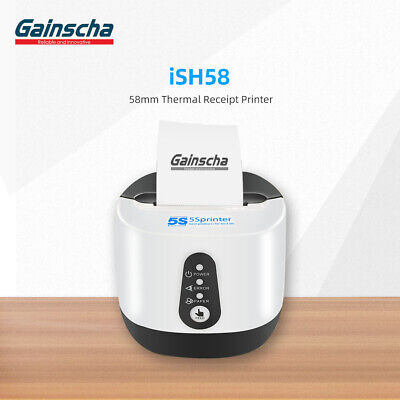 Gainscha Ish58 Thermal Receipt Printer 58mm Wifi Bluetooth Usb Android Ios Us